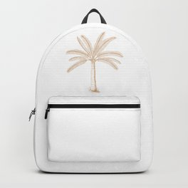 Palm Tree Sketch Tan Backpack