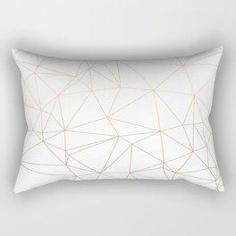 Geometric Gold Minimalist Design Rectangular Pillow