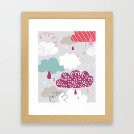 Rain and clouds Framed Art Print
