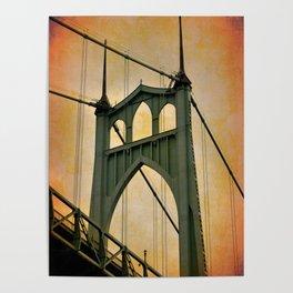 ST. JOHN'S BRIDGE - PORTLAND - OREGON Poster