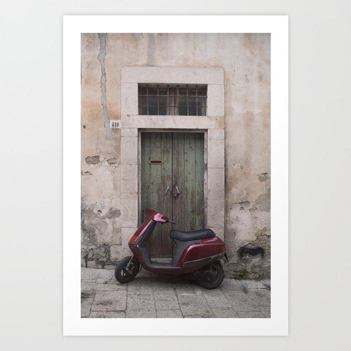 Modica Bike Art Print