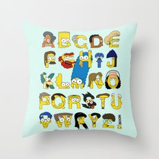 Simpsons Alphabet Throw Pillow