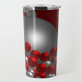 3D in red, white and black -10- Travel Mug