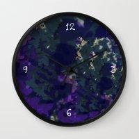 frames Wall Clocks featuring Frames by helenanattestad