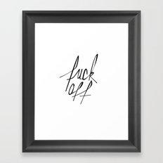 Typography 01 Framed Art Print