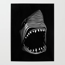 Great Shark Lines Poster