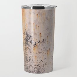 Abstract textures in old metal Travel Mug