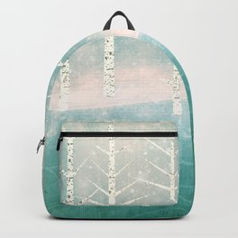 Winter birches by the lake Backpack