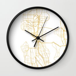 SEATTLE WASHINGTON CITY STREET MAP ART Wall Clock