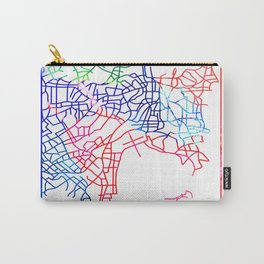 Sydney Watercolor Street Map Carry-All Pouch