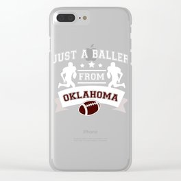 Just a Baller from Oklahoma Football Player Clear iPhone Case