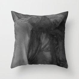 sad angel Throw Pillow