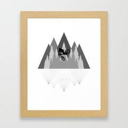 MTB Whip Gray Framed Art Print