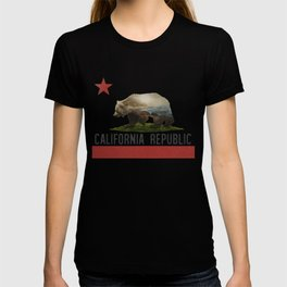 California Grizzly Bear Flag T-shirt