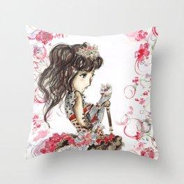 DIA VALENTINE DAY Idolized Throw Pillow
