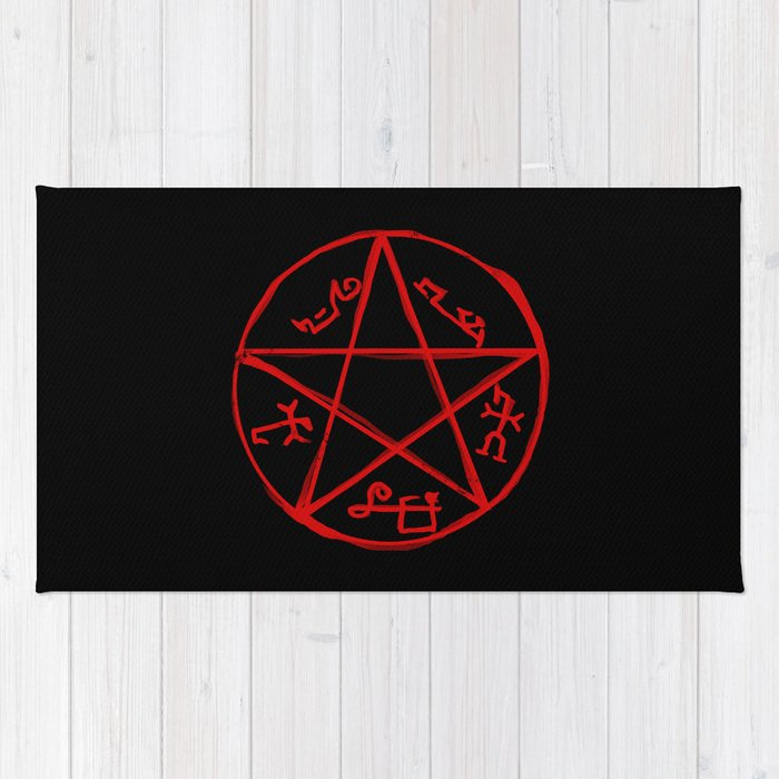 Devil S Trap Supernatural Rug