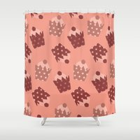 cupcakes Shower Curtains featuring Cupcakes by Ingrid Castile