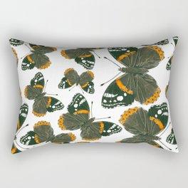 Red admiral butterfly  pattern Rectangular Pillow