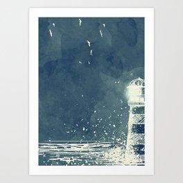 Watercolor Lighthouse Art Print