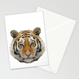 Geometrical Tiger Head Silhouette Stationery Cards