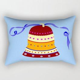 Bell and blue ribbon Rectangular Pillow