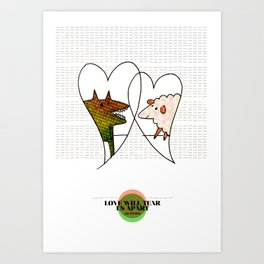 LOVE IN OUR OPINION - LOVE WILL TEAR US APART Art Print