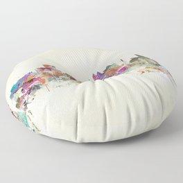 orlando florida skyline Floor Pillow
