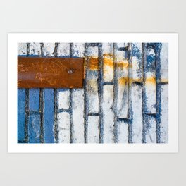 Painting bricks Art Print