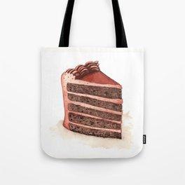 Chocolate Layer Cake Slice Tote Bag