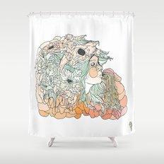 w a r m // m a r s h Shower Curtain