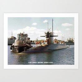 USS JOHN ADAMS (SSBN-620) Art Print