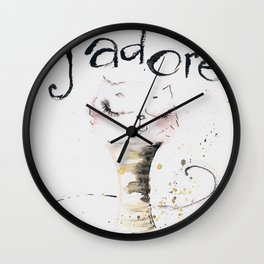 J`adore cat Wall Clock