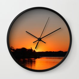 Sunset at Sunset Bay Wall Clock