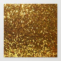 gold glitter Canvas Prints featuring GOLD GLITTER by I Love Decor