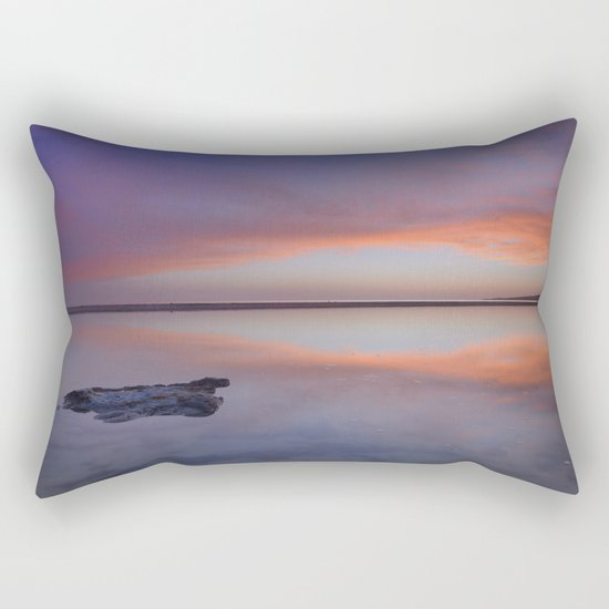 """Purple reflections at the sea"". Bolonia Rectangular Pillow"