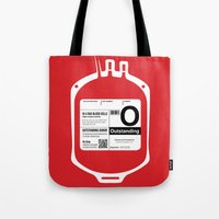 My Blood Type is O, for Outstanding! Tote Bag
