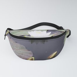 White water lily flower Fanny Pack