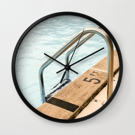 Pool Days 2 Wall Clock