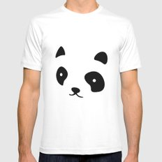Minimalistic Panda face Mens Fitted Tee White MEDIUM