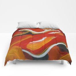 Autumn Wisps Abstract Acrylic Art Comforters