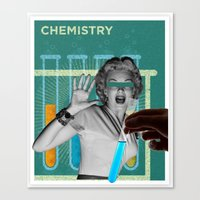 chemistry Canvas Prints featuring chemistry by Spinnerweb