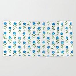bluebutton wildflowers Beach Towel
