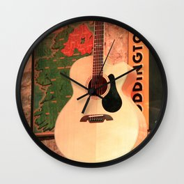 Pub Guitar Wall Clock
