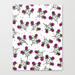 Rose Sprig Pattern Canvas Print