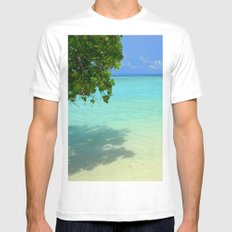 Secret Beach MEDIUM White Mens Fitted Tee