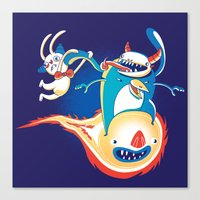Monsteroid! Canvas Print