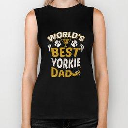 World's Best Yorkie Dad Biker Tank