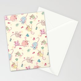 Desert Mices Pastel Stationery Cards