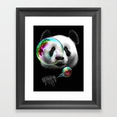 PANDA BUBLEMAKER Framed Art Print