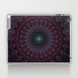 Mandala in dark red and brown tones Laptop & iPad Skin
